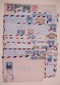 EL SALVADOR 26 SMALL  COVERS  1940's MOSTLY TO USA