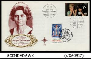 SOUTH AFRICA - 1997 MAJA CHRISTIANSEN FOUNDER CHRISTMAS FUND-SP COVER 2V FDC