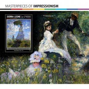 SIERRA LEONE 2017 SHEET MASTERPIECES OF IMPRESSIONISM ART PAINTINGS