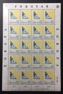 Faroe Islands 1979 #43-4 Sheet, 2 Pics, MNH, CV $20