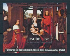[98465] Zaire 1979 Christmas Weihnachten Noël Painting Memling Christ Sheet MNH