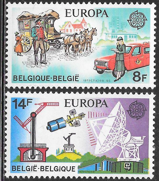 Belgium 1031-1032 MNH - ‭ ‭Europa - Post & Telecommunications