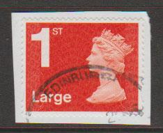 GB QE II Machin SG U2960a - 1st vermillion  Large - MA14 - No Source Code