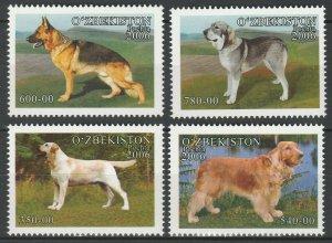 Uzbekistan 2006 Animals, Pets, Dogs, 4 MNH stamps