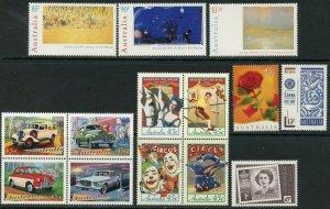 AUSTRALIA Sc#1572//1628 1997 Year with 15 Sets & 1 S/S OG MNH
