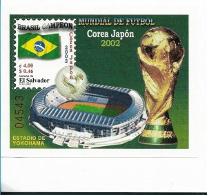 EL SALVADOR 2002 SOCCER WORLD CUP BRAZIL CHAMPION SOUVENIR SHEET MNH MI BL 56