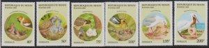 1995 Benin Scott 780-785 Birds Feeding their Chicks MNH