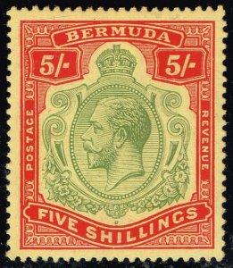 Bermuda #52 King George V; Unused (3Stars)