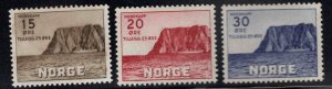 Norway Scott B54-B56 MH* 1953 North Cape set one hinge thin see back scan