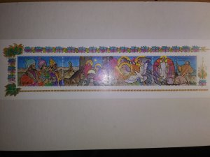 ZAMBIA EXCEPTIONAL BEAUTIFUL BIRTH OF JESUS STRIP OF 4 STAMPS