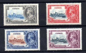 Cyprus 1935 KGV Silver Jubilee mint LHM SG144-147 WS20905