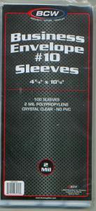 Business #10 Envelopes Cover Sleeves, 4 3/4 x 10 1/8, 100 Pkg, 01710