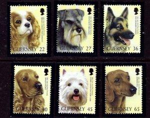 Guernsey 736-41 MNH 2001 Dogs (KB)    (ap3704)