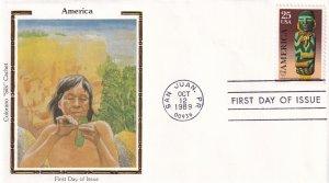 1989, 45c America, Colorano Silk, FDC (E12240)
