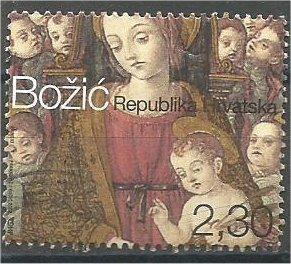 CROATIA, 2002, used 2.30k, Christmas, Scott 504