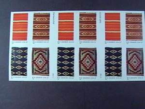 U.S.# 3926-3929(3929b)-MINT/NH-BOOKLET PANE OF 20--RIO GRANDE BLANKETS--2005