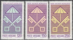 Vatican City  #635-7 MNH F-VF(SU3529)