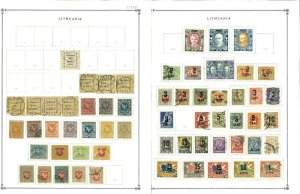 LIthuania 1918-1940 mostly Mint & Used Hinged on Scott Blsnk Pages