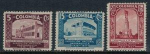 Colombia #448-50*  CV $28.50