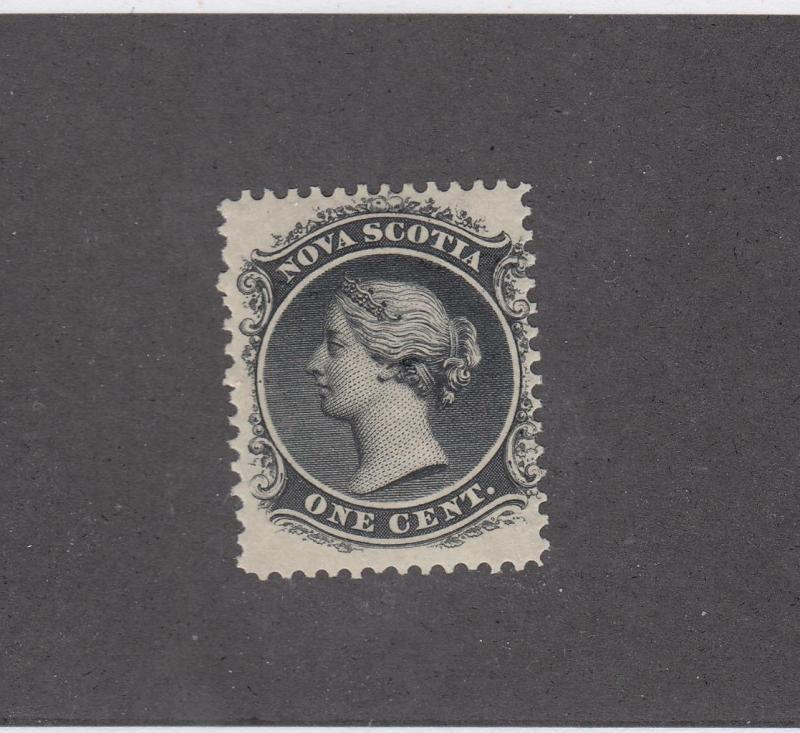 NOVA SCOTIA # 8 MVLH 1cts QUEEN VICTORIA BLACK CAT VALUE $15