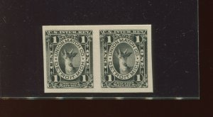 RO179P4 Match & Medicine Revenue Proof on Card Pair of 2 Stamps (RO179 A2)