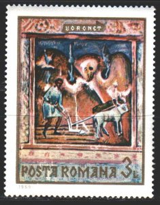 Romania. 1969. 2819 from the series. The frescoes in the monastery. MNH.