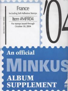 Minkus Album Supplement France Isuues Through Oct 2004