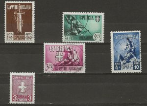 German Occupation of Serbia 2NB23-26 PLUS 2NO1 used  409368