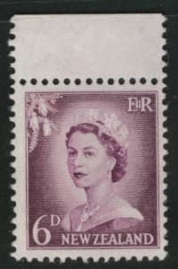 New Zealand Scott 311 MNH** 1955 redrawn QE2 perf 13.5