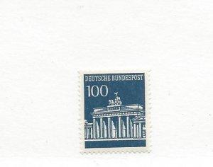 Germany, 956, Brandenburg Definitive Single w/Control #345 pn Back, MNH