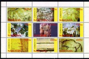 Naxcivan 1996 PREHISTORIC MAN Sheet Perforated Mint (NH)