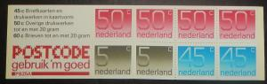 Netherlands 536e. 1976 5c, 45c, 50c Unexploded booklet, NH
