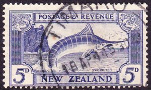 NEW ZEALAND 1936 5d Ultramarine SG584 Used