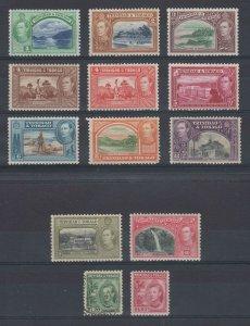 BC TRINIDAD & TOBAGO 1938-41 Sc 50-61 no 52 MINT, UNUSED & USED SCV$68.05