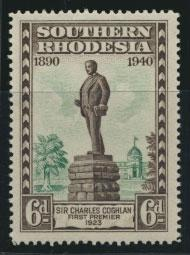 Southern  Rhodesia  SG 59 Mint Unhinged