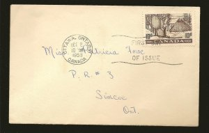 Canada 301 Indians Drying Skins 1950 First Day Cover Used