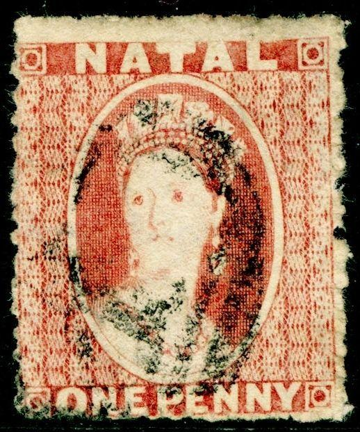 SOUTH AFRICA - Natal SG15, 1d Rose-Red, USED. Cat £65.