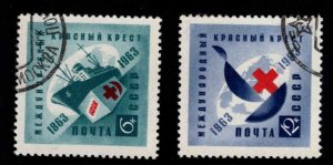 Russia Scott 2766-2767  Used Red Cross set