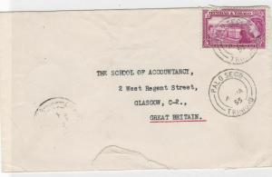 trinidad 1955 stamps cover ref 12908