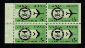 Canal Zone  C50a booklet pane    MNH cat $ 6.00