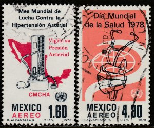 MEXICO C559-C560, World Health Day and Hypertension USED. F-VF. (680)