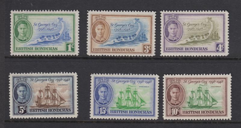 British Honduras-Scott 131-136 - Definitive Issue -1949 -MVLH - Set of 6 Stamps