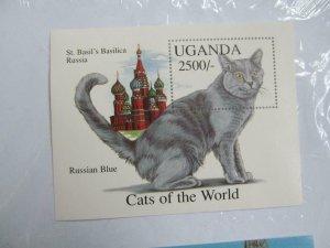 Uganda Russian Blue Cats of the World  M/S MNH