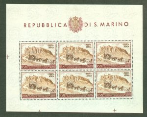 BD: XL item San Marino C75a sheet of 6 mint CV $200