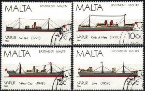 Malta #686-9  F-VF  Used CV $6.00 (X5701)