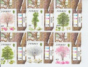 2012 Jersey - 75th Anniv Trees for Life (Scott 1595-600) MNH