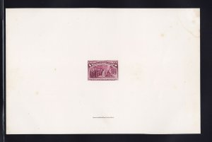 236 P1 large die india proof on card scarce with nice color cv $ 850 ! see pic !