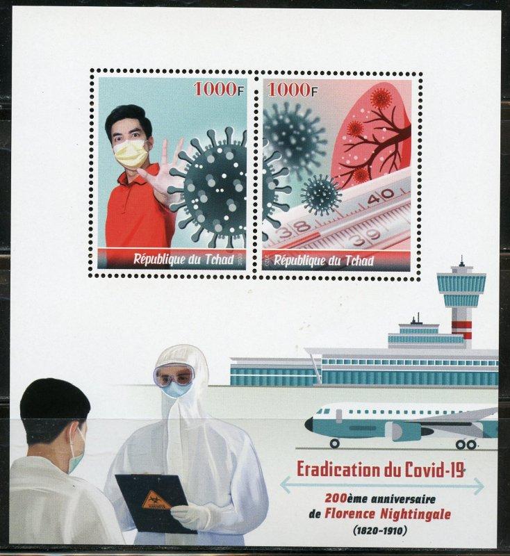 CHAD 2020 ERADICATE COVID-19 SHEET MINT NH
