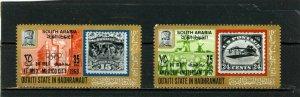 ADEN/QU'AITI 1967-1968 OLYMPICS AVIATION SET OF 2 STAMPS MNH
