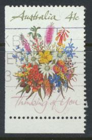 SG 1230  SC# 1164a left margin imperf  Used  Wildflowers perf 14